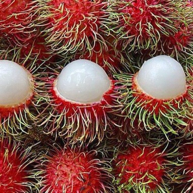 rambutan is so lovely red beautiful fruits h... (232/410)