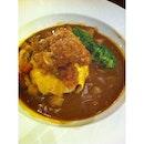 My kopi o, chicken katsu curry rice.