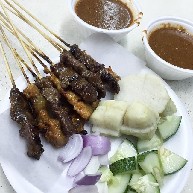Pork & Mutton Satay.