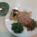Organic Brown Rice With 3 Side Dishes And Soup