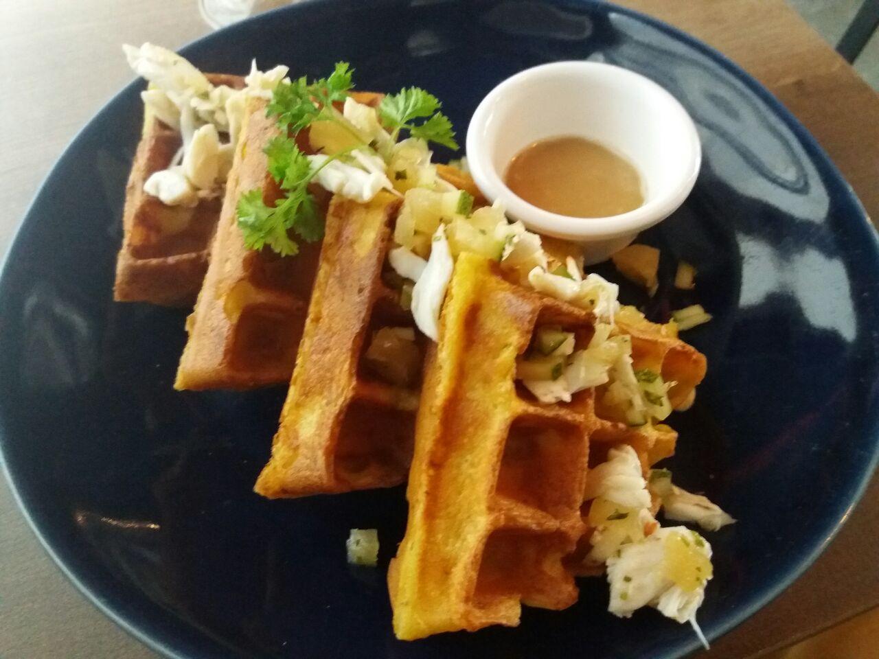Assam Crab Waffles