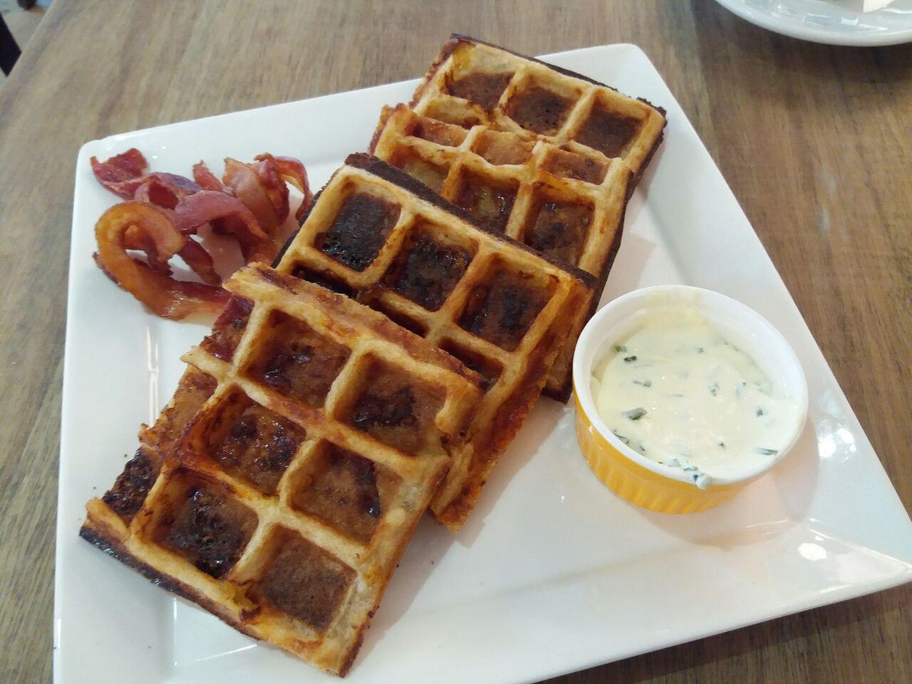 Cheddar Waffles