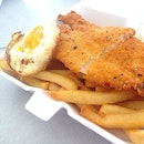 Fish Schnitzel from happy chef!