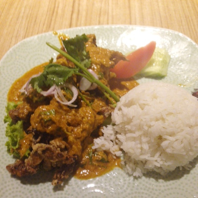 Soft Shell Crab Egg Curry Rice