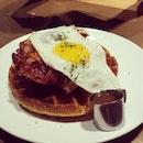 #foodgasm #foodporn #breakfast #waffle #deptofcaffeine #lookssogood