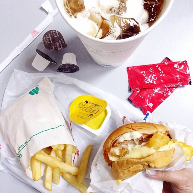 Fish Burger with Fries Set.