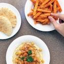 Sweet Potato Fries, Pita, Hummus