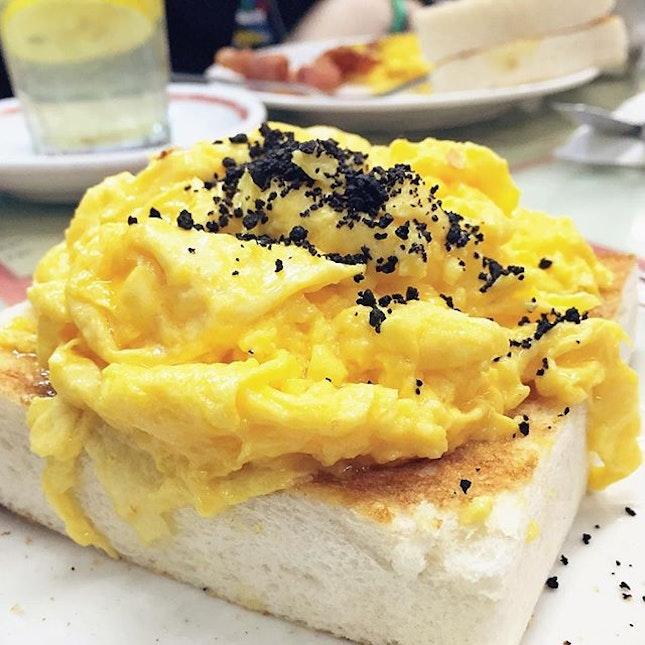 Black Truffle Scrambled Egg Toast
