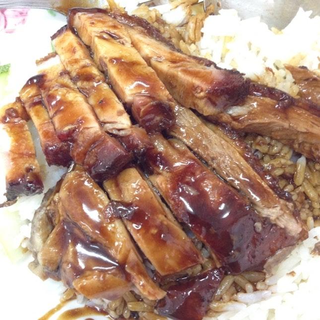 Yummy Roast Duck And Roast Pork Rice