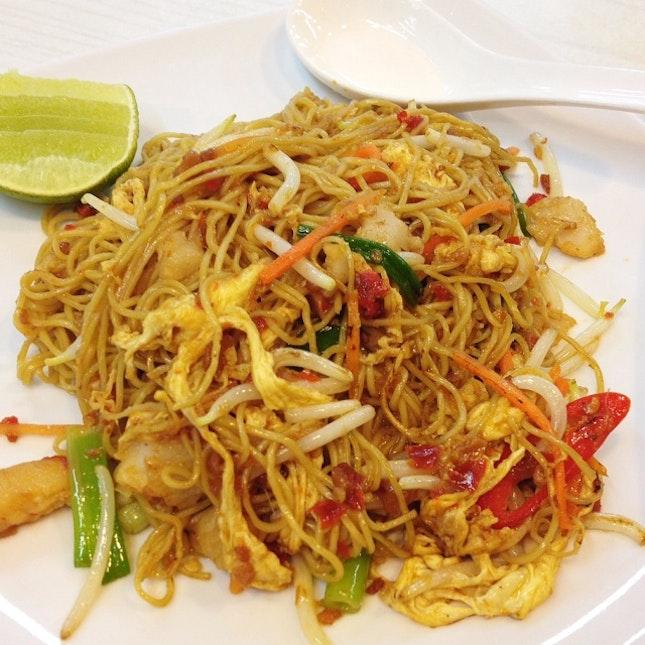 Fried Sambal Seafood Eggs Noodle