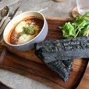 Baked Eggs With Charcoal You Tiao