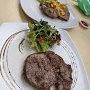 Ribeye Steak And Pork Stirloin