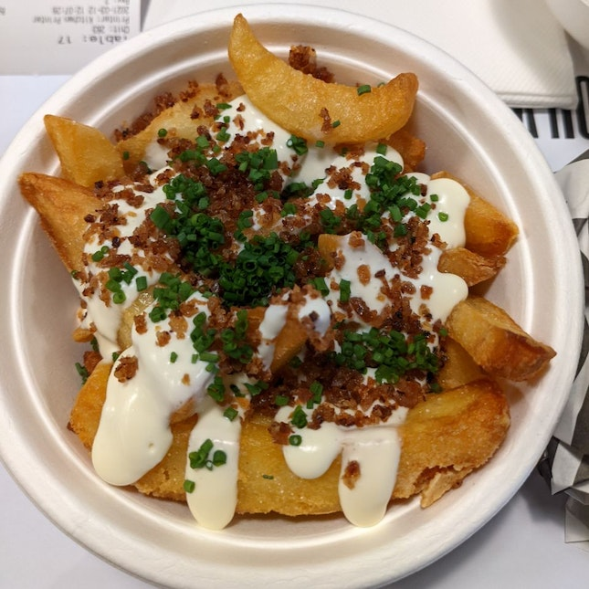 Bacon And Cream Cheese Fries ($10)