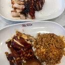 Soya Chicken Rice, Charsiew, Roast Pork