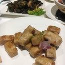 Fried Yam, Seaweed Fried Oysters