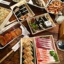 刺身、壽司、炒飯、魚頭、椒鹽蝦