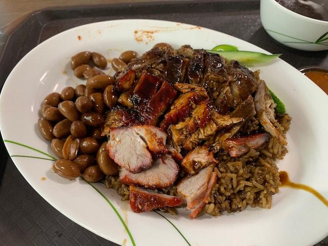 Braised Duck Rice, Char Siew
