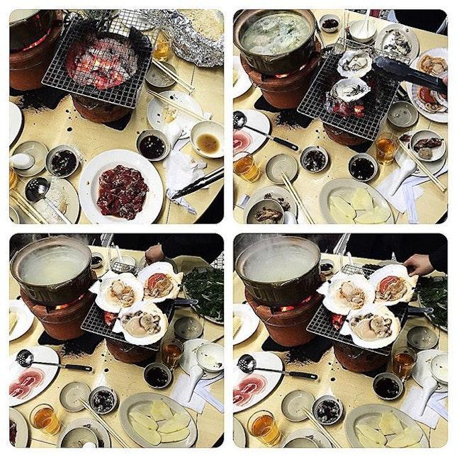 好耐無去#鴻福, 啲嘢食依然新鮮, #生蠔 同#元貝 都好肥美, 乜都唔使加,就咁食鮮味.