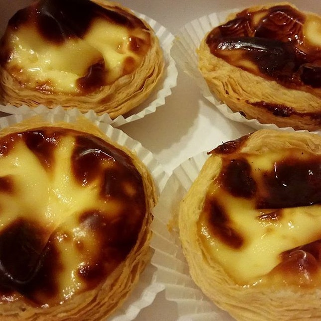 #eggtart #eggtarts with a smooth eggy filling, but a lil too sweet for my liking.