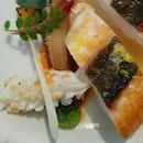 Line caught #johndory #fish,  #miso glazed endive, #squid a la plancha, sake beurre blanc  #threemichelinstars #michelinguide  #8dayseat #burpple #eatoutsg #foodiesg #foodphotography #foodporn #foodpornsg #foodsg #foodstagram #hungrygowhere #igfoodies #instafoodsg #instafood_sg #sgeats #sgfood #sgfoodblogger #sgfoodie #sgfoodies #sgfoodporn #sgfoodunion #singaporefood #tslmakan #whati8today #yahoofood