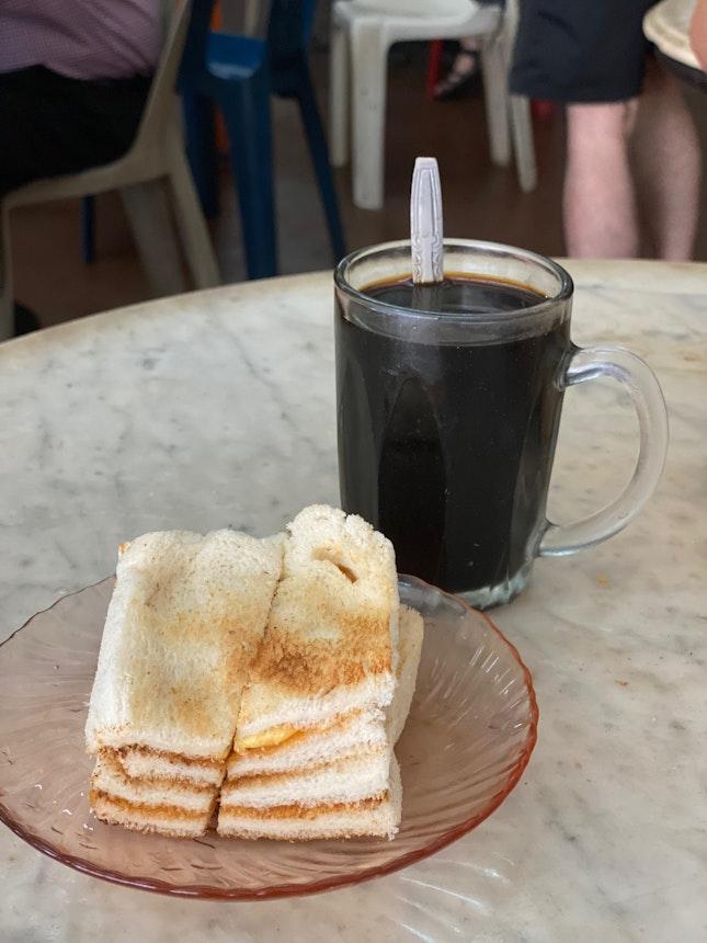 Butter Kaya Toast And Kopi O Kosong