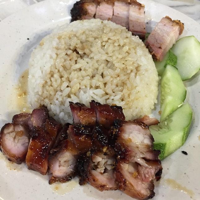 Roast Pork + BBQ Pork with Rice