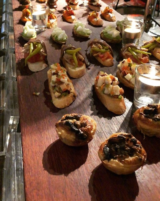 Preview of what to expect at the spanking new @TXA.PintxoBar, also Singapore's first and only bar dedicated to #pintxo, located at recently relaunched @thealkaffmansion.