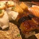 Dinner #sushi #unagi #salmonbelly #burpple #foodporn #foodpornography