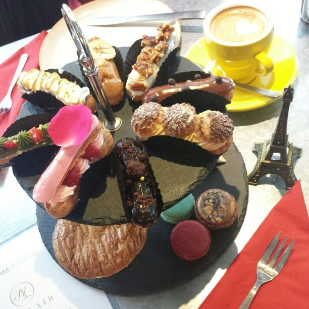 Full High Tea Set With Good Cup Of Latte