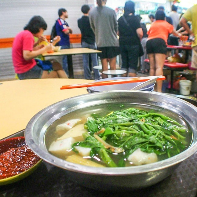 "The famous ""Midnight Yong Tau Foo"" that opens only around midnight."
