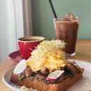 Basil Pesto Mushroom Toast ($14)