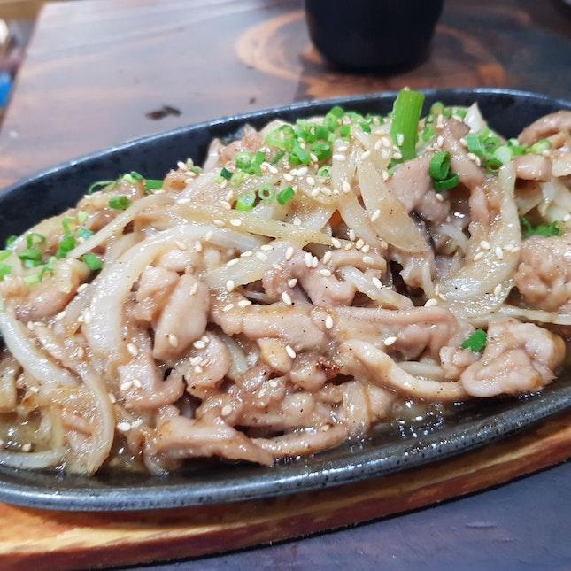 Stir Fried Chicken - Served On Hot Plate