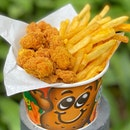 🍗Flavored Popcorn Chicken and Fries anyone🍗 Tis the season to let loose and indulge in your favourite food⭐️ .