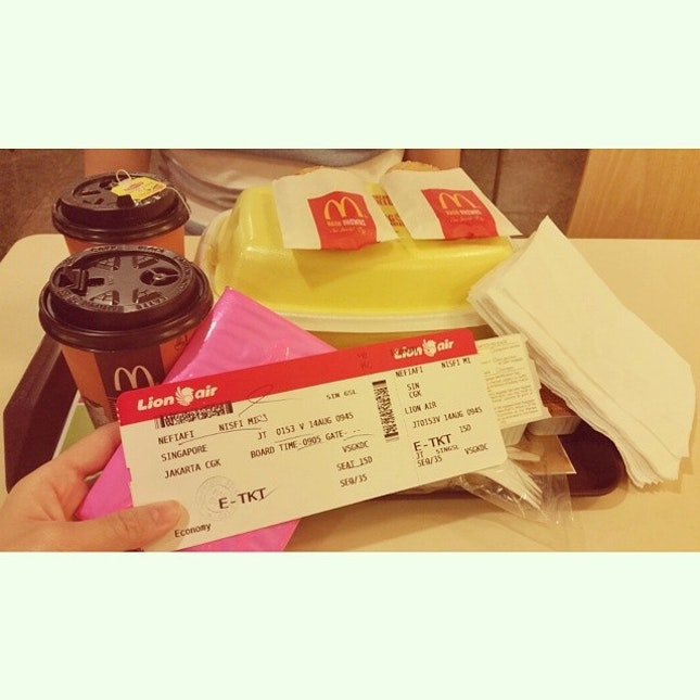 A warm morning from McDonald Changi Airport...