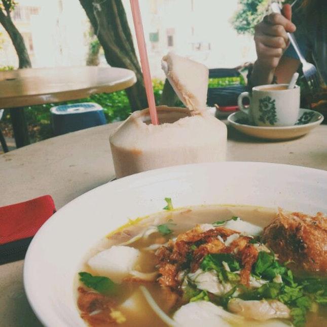 Fresh Coconut Juice // Soto Ayam