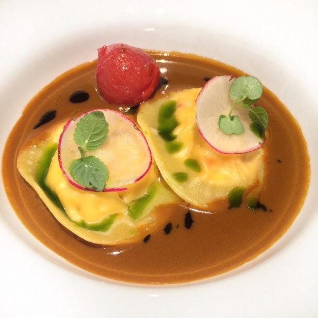 Lobster Ravioli Soup