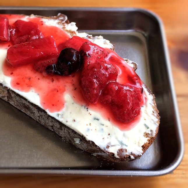 Sage Cream Cheese & Berry Compote $4