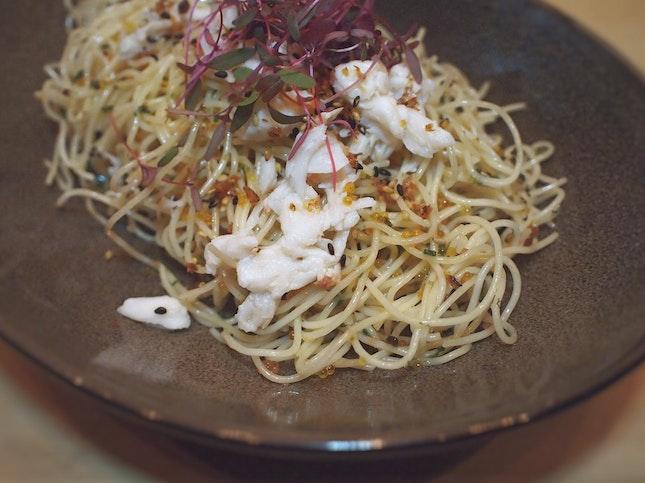 Cold Crab Truffle Pasta $21