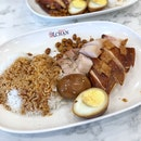 Soya Sauce Chicken Rice $3.8