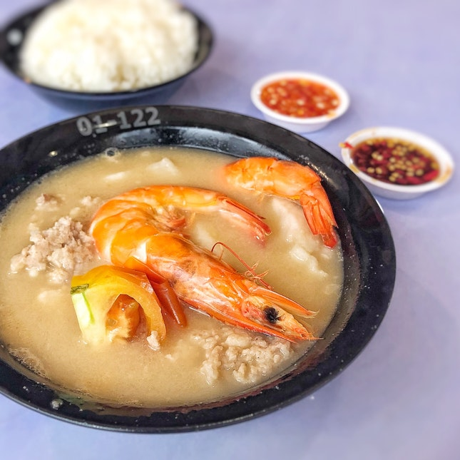 Seafood Soup w/ rice $6.5