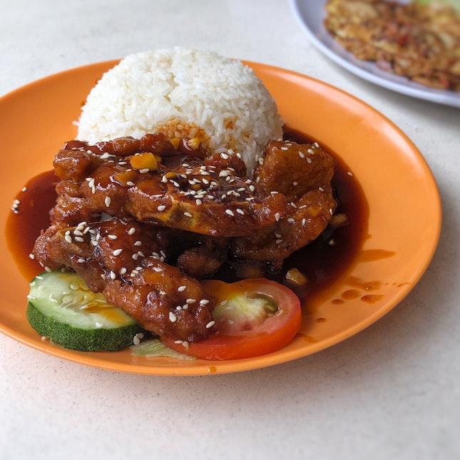 Pork Ribs Rice $6