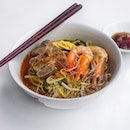 Pork Slice Prawn Noodles $5