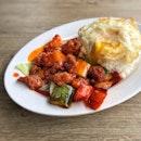 Sweet & Sour Pork Rice w/Egg $8