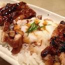 Onsen Tamago + Teriyaki Chicken Rice