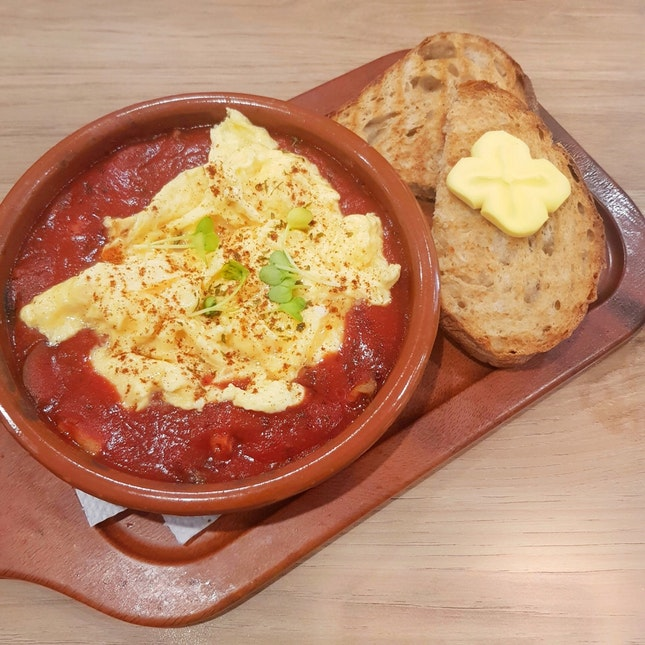 Eggs Tomato Relish