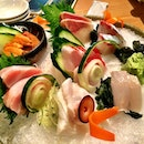 Sashimi that melt in my mouth.