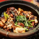 Great Claypot Rice Cooked Using Charcoal