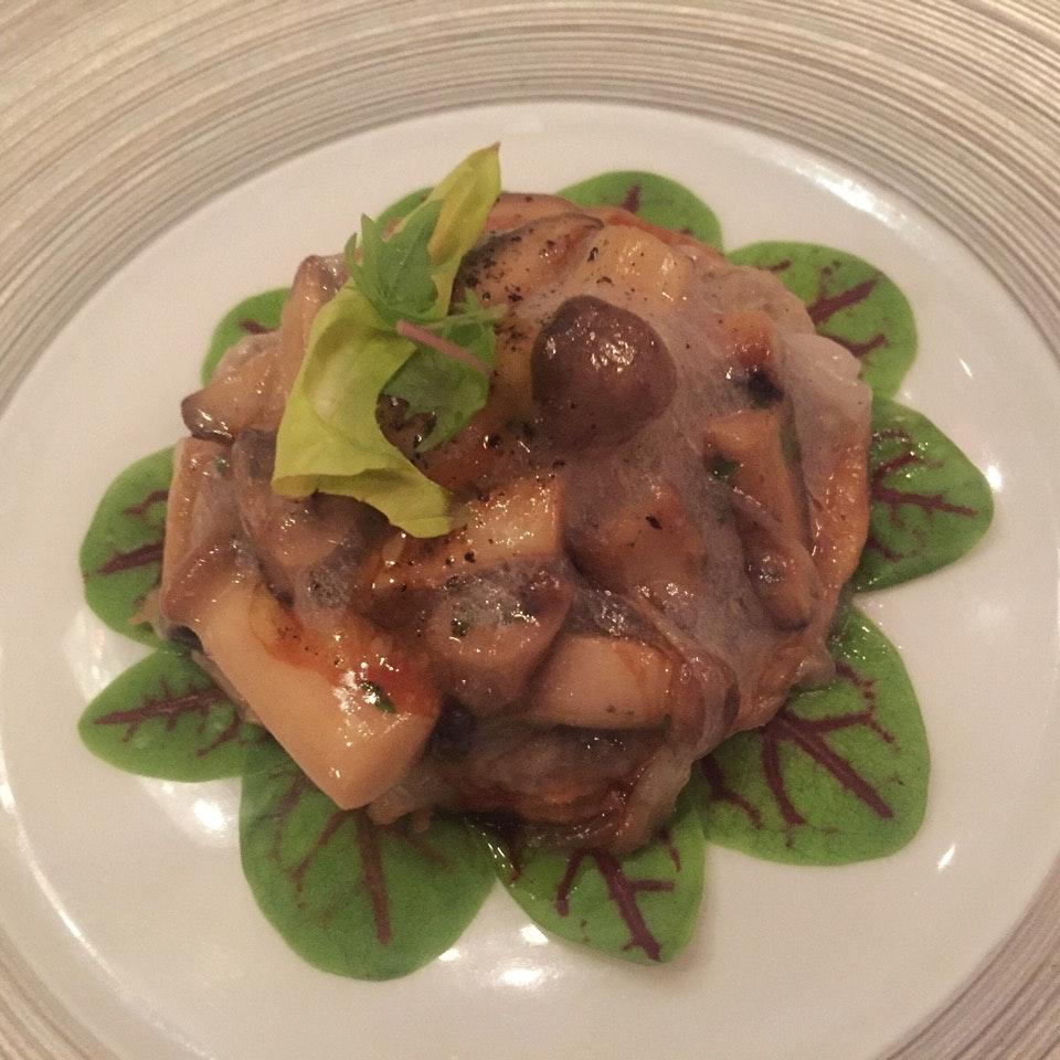 La Tarte Aux Champignons (Mushroom & Egg Yolk On Filo Pastry)
