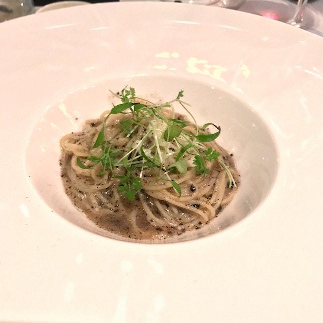 Capellini Pasta | Black Truffle | Pecorino