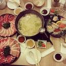 I am very SICK so I need good food #shabushabu #sashimi #japanese #dinner #foodporn #sgfood #instadaily #photooftheday